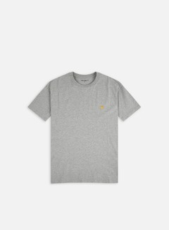 Carhartt - Chase T-shirt, Grey Heather/Gold