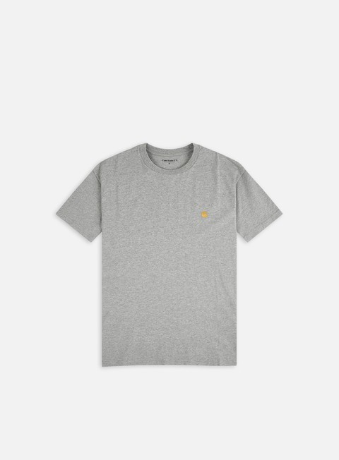 t shirt carhartt chase t shirt grey heather gold