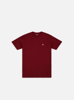 Carhartt - Chase T-shirt, Mulberry/Gold
