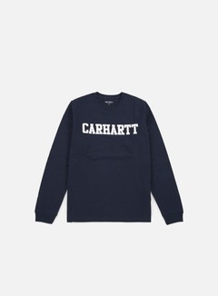 Carhartt - College LS T-shirt, Navy/White