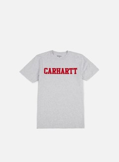 Carhartt - College T-shirt, Ash Heather/Chili