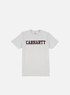 Carhartt - College T-shirt, Ash Heather/Damson
