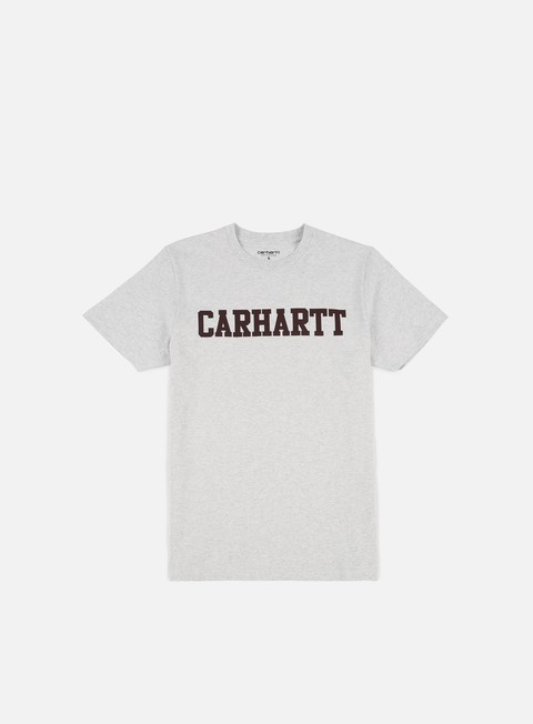 t shirt carhartt college t shirt ash heather damson