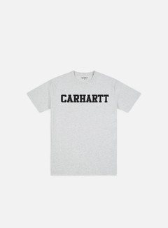 Carhartt - College T-shirt, Ash Heather/Dark Navy