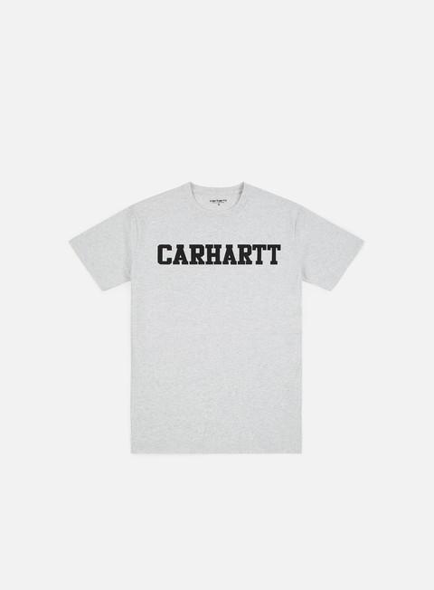 t shirt carhartt college t shirt ash heather dark navy