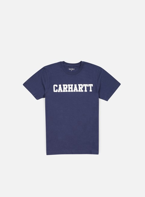 t shirt carhartt college t shirt blue white