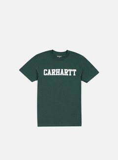 Carhartt - College T-shirt, Bottle Green/White