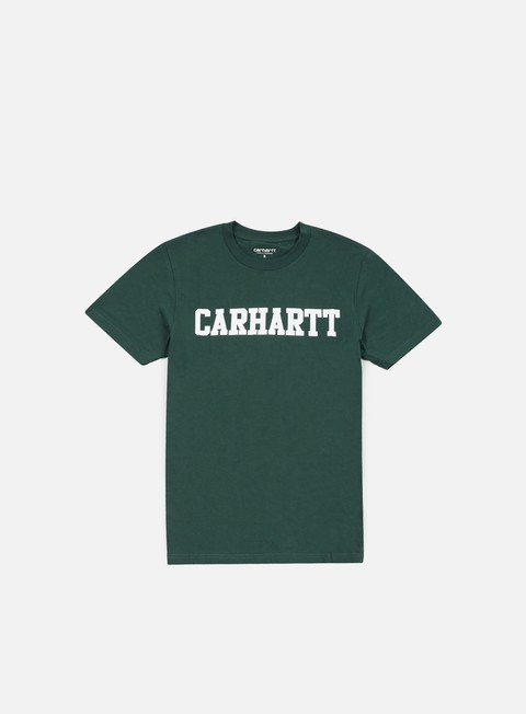 t shirt carhartt college t shirt bottle green white