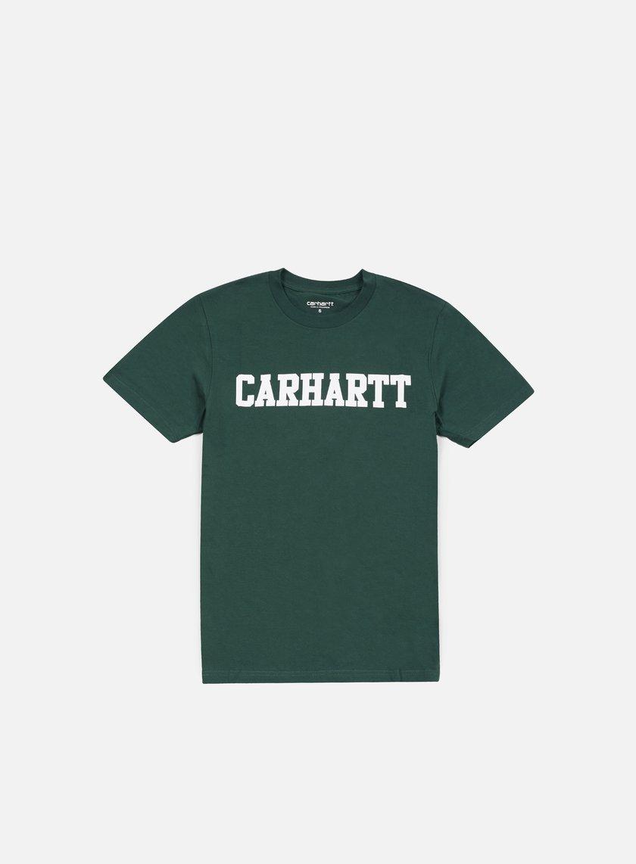 Carhartt - College T-shirt, Bottle Green/White
