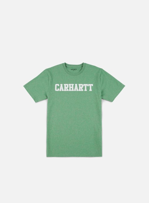 t shirt carhartt college t shirt catnip heather white