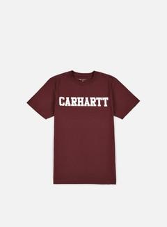 Carhartt - College T-shirt, Chianti/White