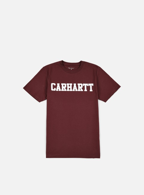 t shirt carhartt college t shirt chianti white