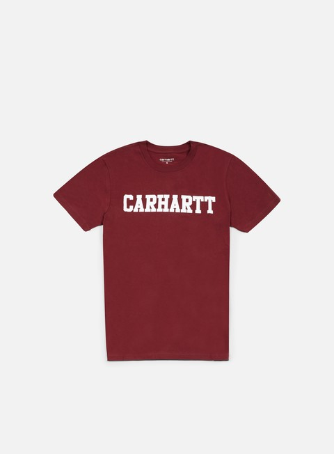 t shirt carhartt college t shirt cordovan white