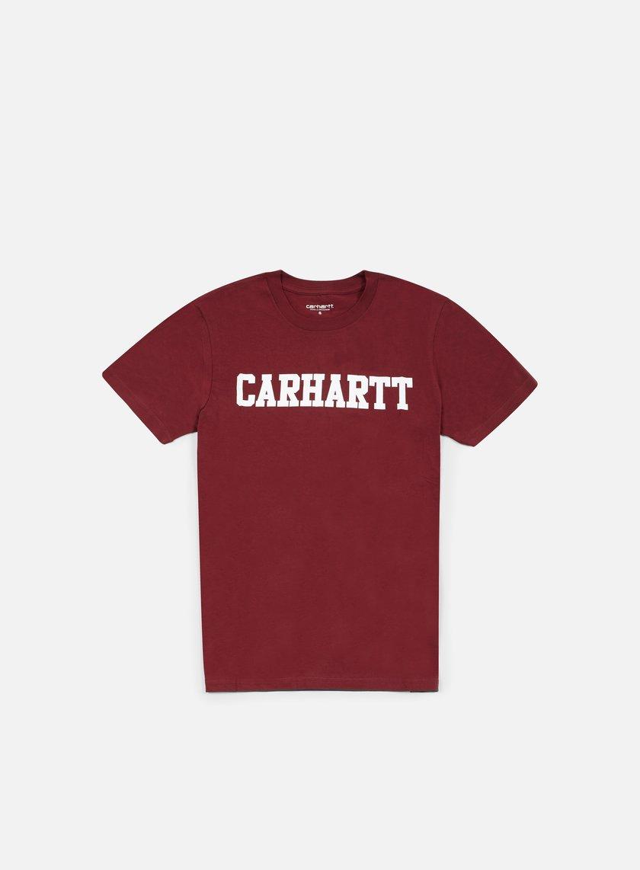 Carhartt - College T-shirt, Cordovan/White