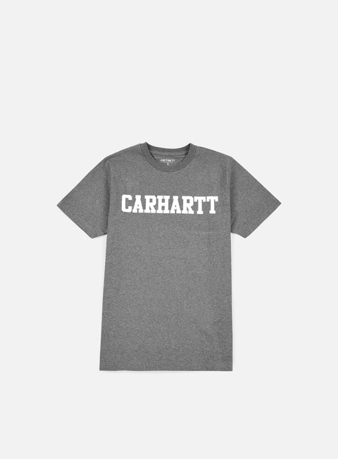 t shirt carhartt college t shirt dark grey heather white