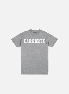 Carhartt - College T-shirt, Grey Heather/White