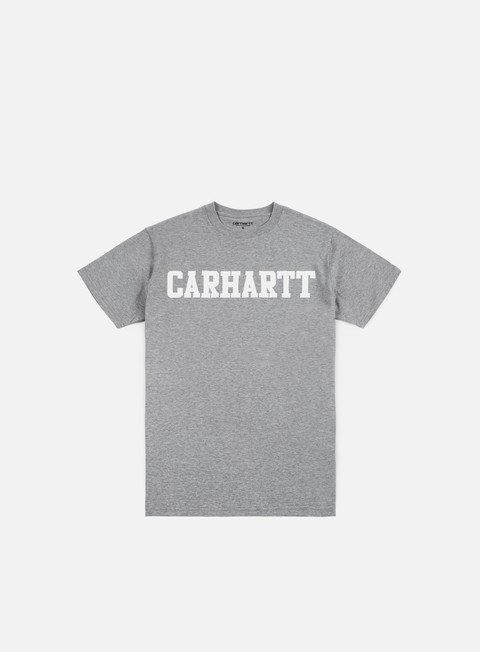 t shirt carhartt college t shirt grey heather white