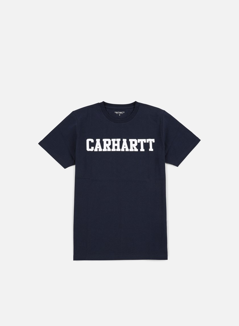 Carhartt - College T-shirt, Navy/White