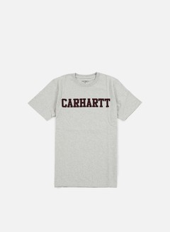 Carhartt - College T-shirt, Snow Heather/Chianti 1