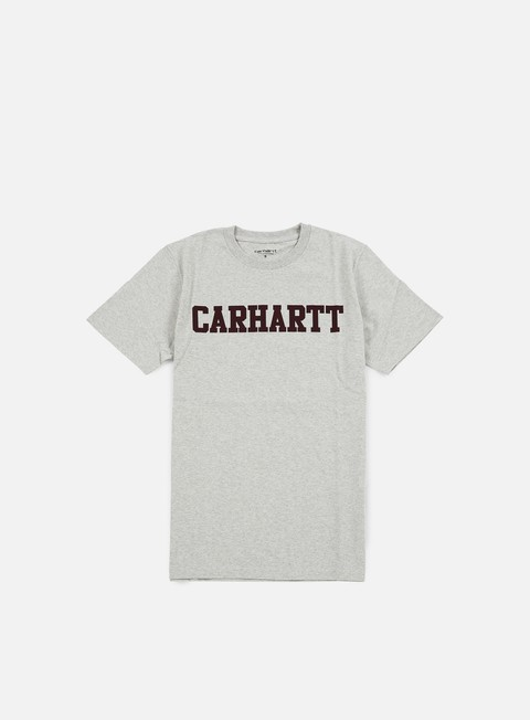 t shirt carhartt college t shirt snow heather chianti