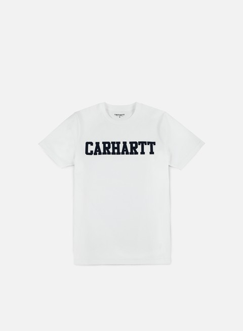 t shirt carhartt college t shirt white navy