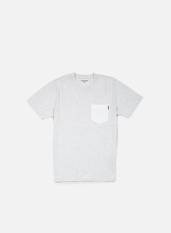 Carhartt - Contrast Pocket T-shirt, Ash Heather/White