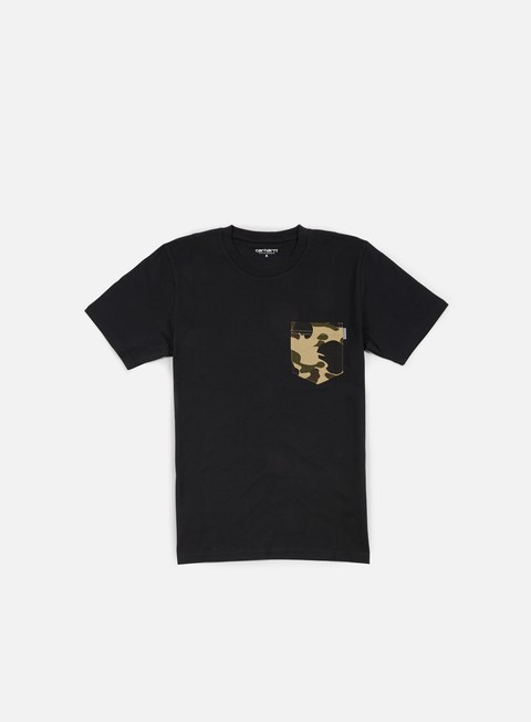 t shirt carhartt contrast pocket t shirt black camo duck