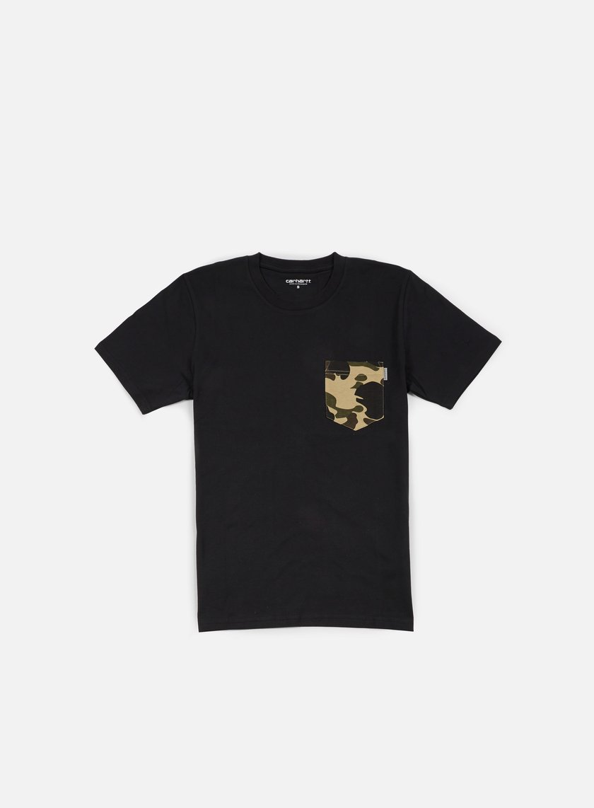 Carhartt - Contrast Pocket T-shirt, Black/Camo Duck