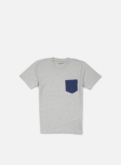 Carhartt - Contrast Pocket T-shirt, Grey Heather/Blue