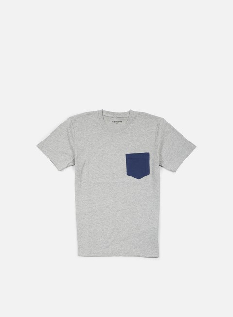 t shirt carhartt contrast pocket t shirt grey heather blue