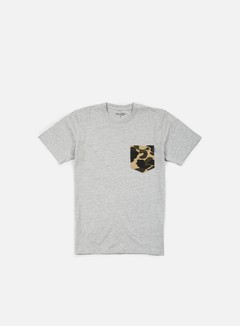 Carhartt - Contrast Pocket T-shirt, Grey Heather/Camo Duck
