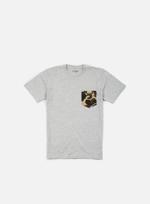 t shirt carhartt contrast pocket t shirt grey heather camo duck