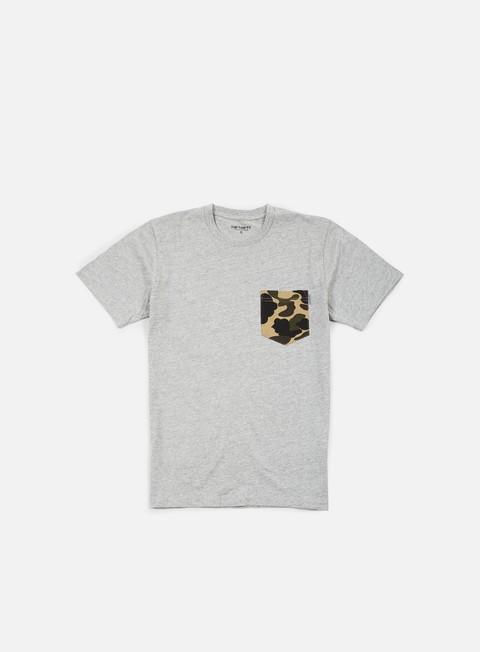 t shirt carhartt contrast pocket t shirt grey heather camo duck
