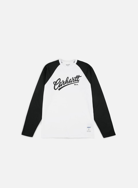 t shirt carhartt craft script ls t shirt white black black