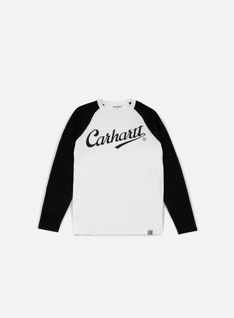 t shirt carhartt league ls t shirt white black