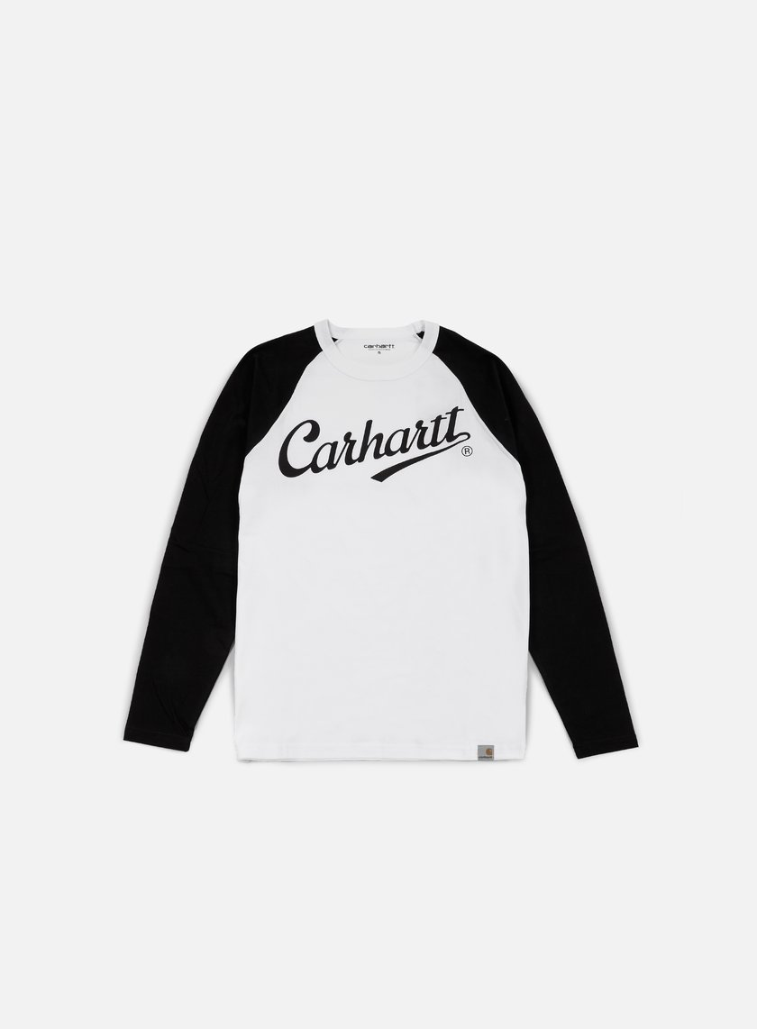 Carhartt - League LS T-shirt, White/Black