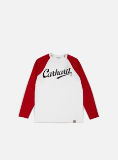 Carhartt - League LS T-shirt, White/Fire 1