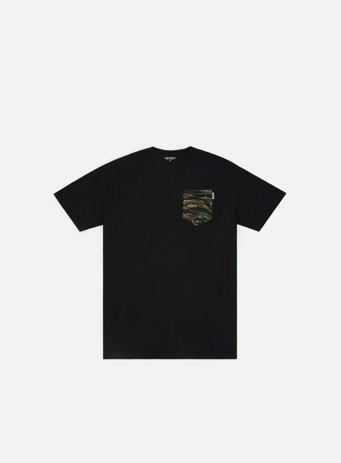 t shirt carhartt lester pocket t shirt black camo tiger jungle