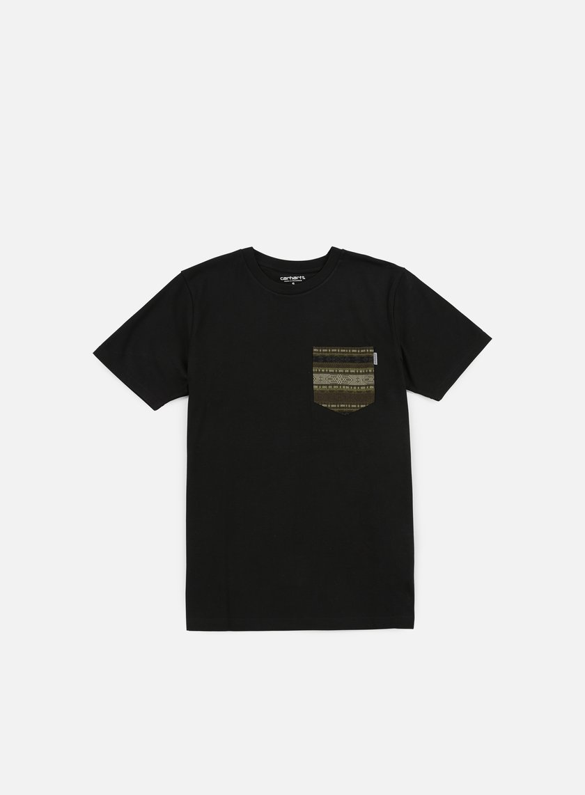 Carhartt - Lester Pocket T-shirt, Black/Green Ethnic Print