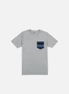 Carhartt - Lester Pocket T-shirt, Grey Heather/Blue Ethnic Print 1