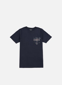 Carhartt - Lester Pocket T-shirt, Navy/Jupiter Heather Carlos Check 1