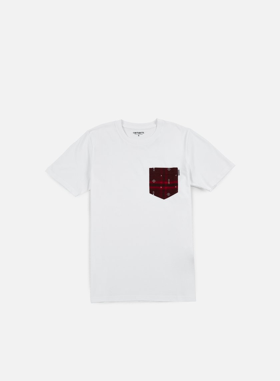 Carhartt - Lester Pocket T-shirt, White/Chianti Carlos Check