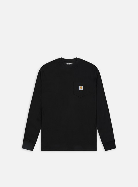 t shirt carhartt ls pocket t shirt black