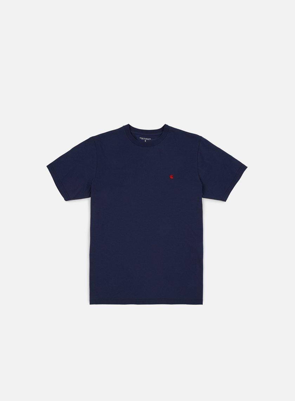 Carhartt - Madison T-shirt, Blue/Blast Red