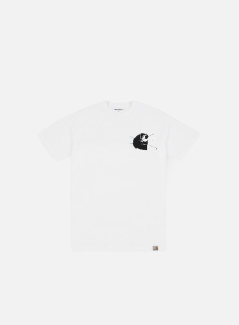 t shirt carhartt mirror t shirt white black