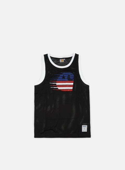 t shirt carhartt motion mesh tank top black