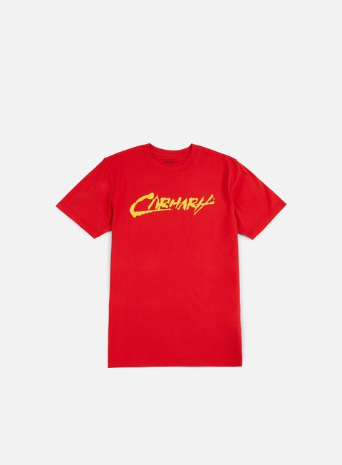 t shirt carhartt painted script t shirt chili yellow