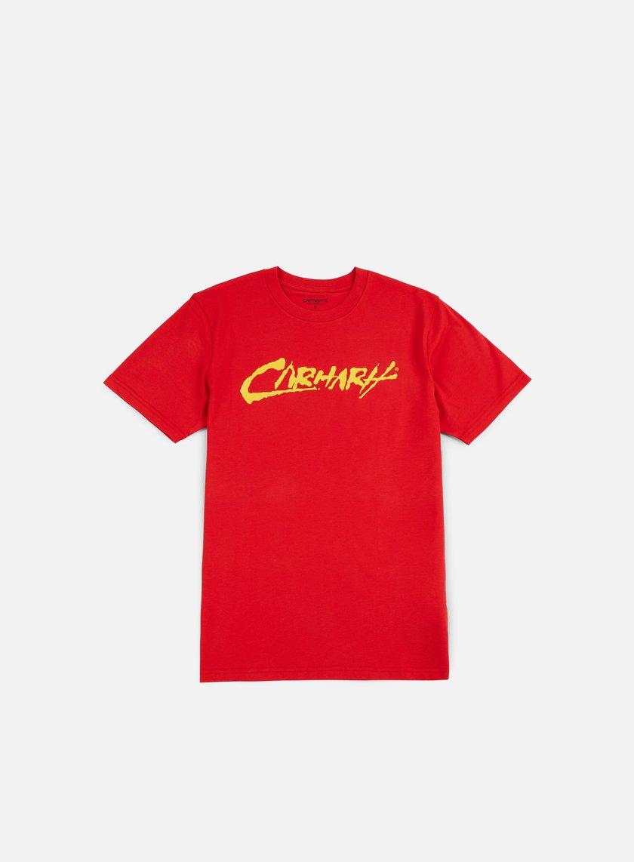 Carhartt - Painted Script T-shirt, Chili/Yellow