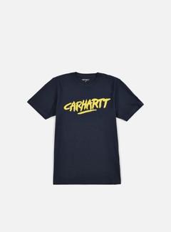 Carhartt - Painted Script T-shirt, Navy/Quince 1