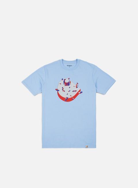 t shirt carhartt pixel t shirt aquamarine
